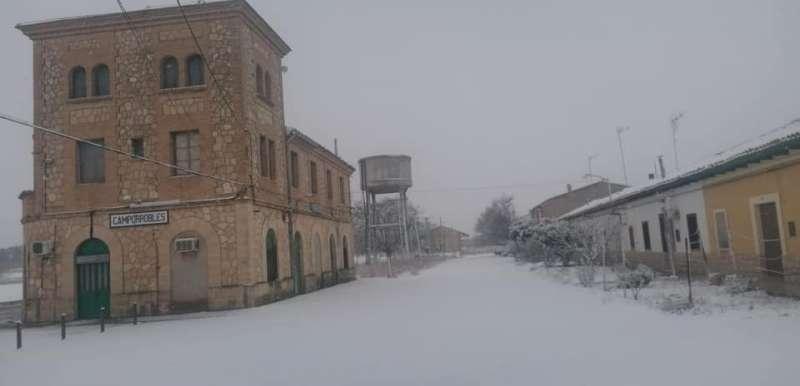 Imagen de la estación de Camporrobles nevada
