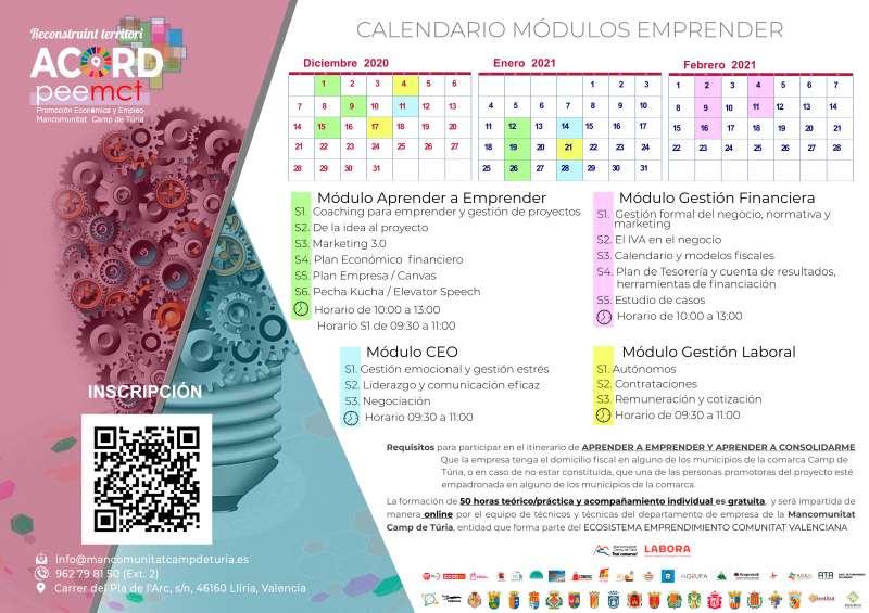 Calendari Emprenedors. / EPDA