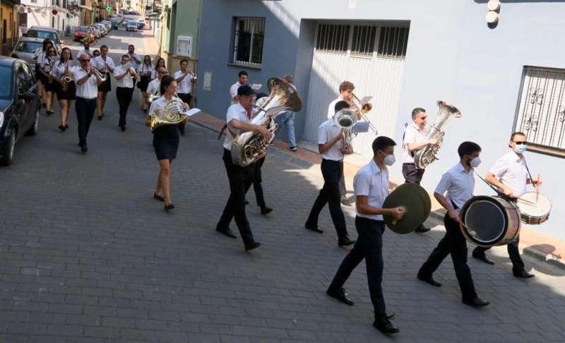 Banda de la Unión Musical de Soneja en pandemia