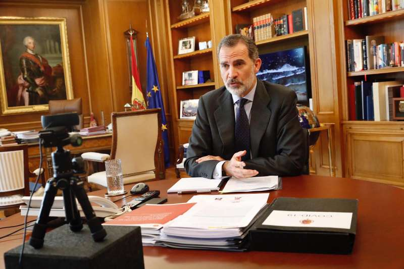 Videoconferencia con el Rey Felipe VI