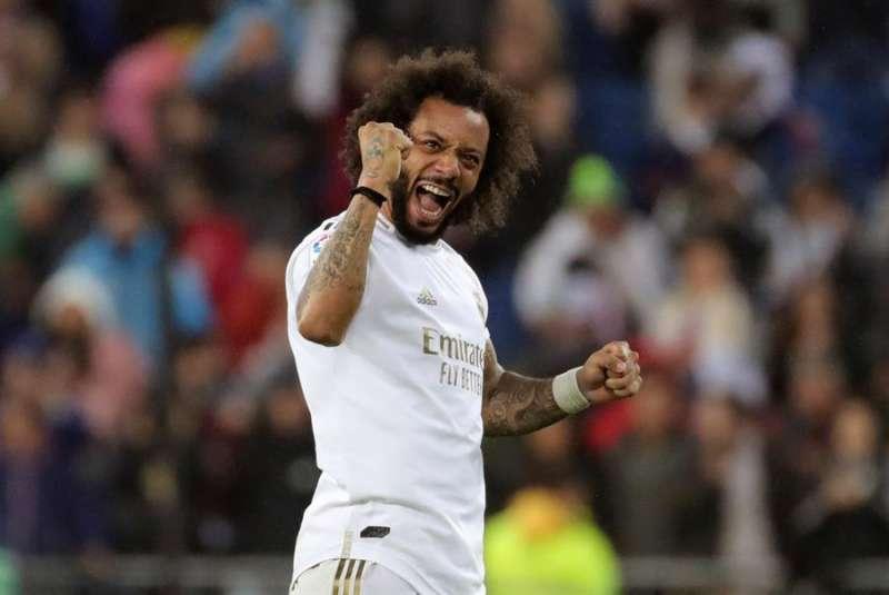 El defensa del Real Madrid Marcelo durante un partido. EFE/Archivo