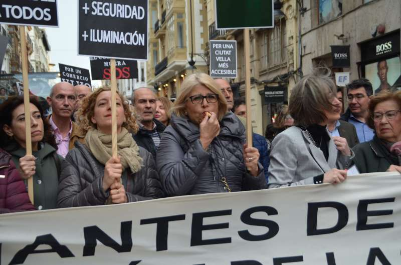Manifestantes. EPDA