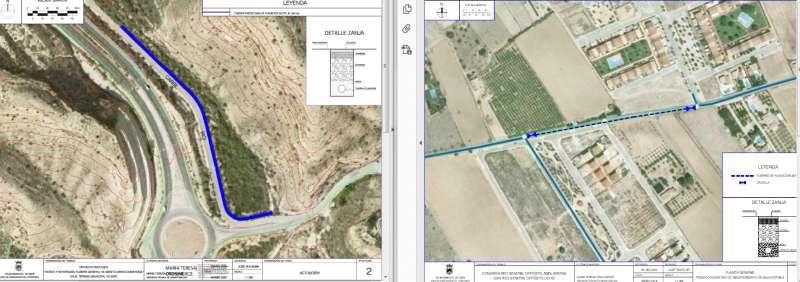 Plano de las zonas a reparar/EPDA
