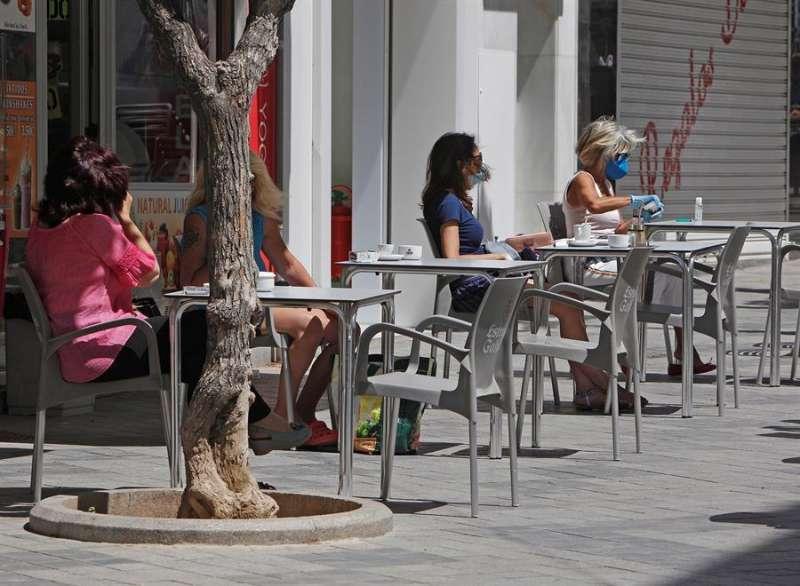 Una terraza de un bar en una imagen de archivo. EPDA