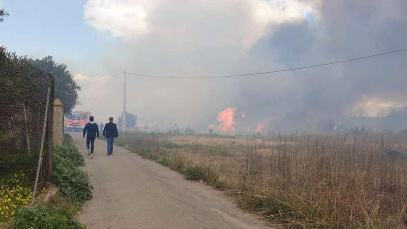 Fotografía del incendio de esta mañana