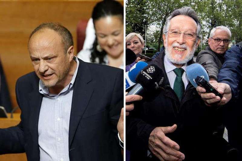 El subdelegado del Gobierno en Valencia, Rafael Rubio y el exvicealcalde Alfonso Grau