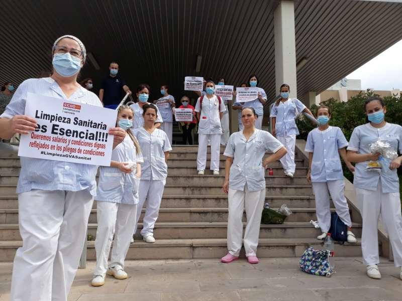 Protesta en el Hospital de Sagunt.