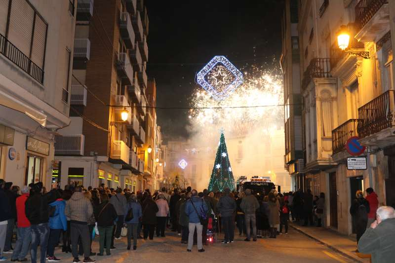 Castillo de fuegos artificiales por la festividad del Loreto