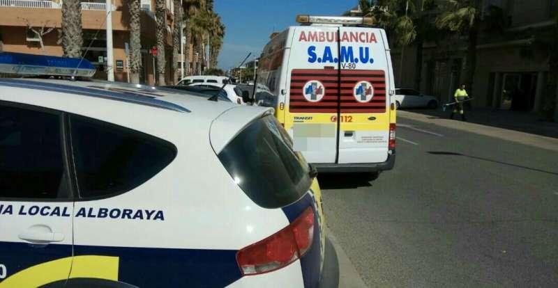 Uno de los vehículo de la Policía Local de Alboraya. EPDA