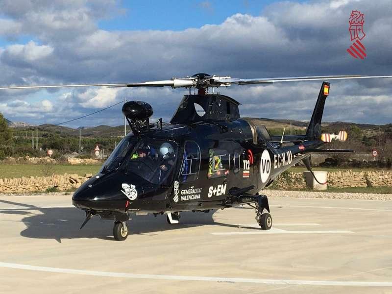 Helicóptero de Emergencias. EPDA.